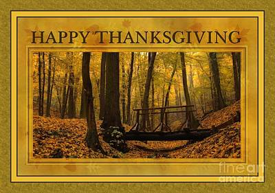 Digital Art - Autumn Wood Thanksgiving by JH Designs