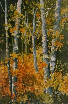 Painting - Autumn Woodland by Lynne Wright