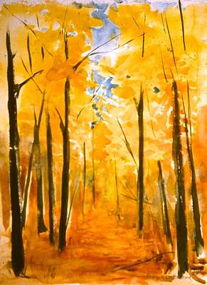 Painting - Autumn Woods by Rebecca Gottesman
