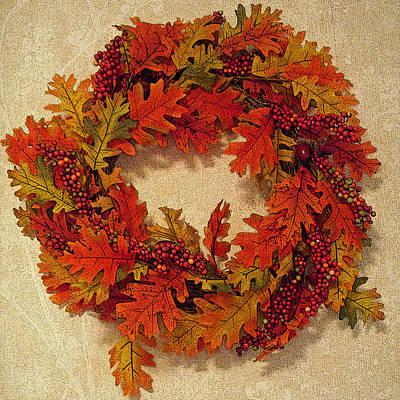 Autumn Wreath Art Print by Aimee L Maher Photography and Art Visit ALMGallerydotcom