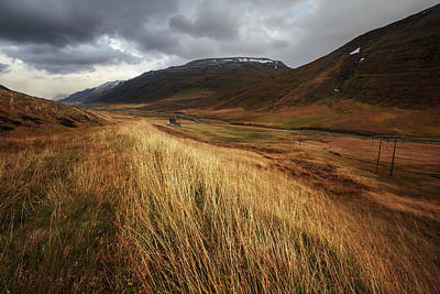 Wind Photograph - Autumnal by Bragi Ingibergsson -