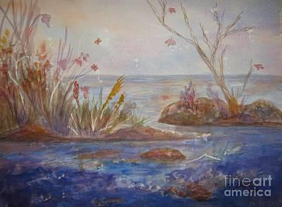 Waterscape Painting - Autumnal Fantasy by Ellen Levinson