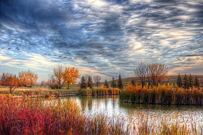 Photograph - Autumnal Morn by Larry Trupp