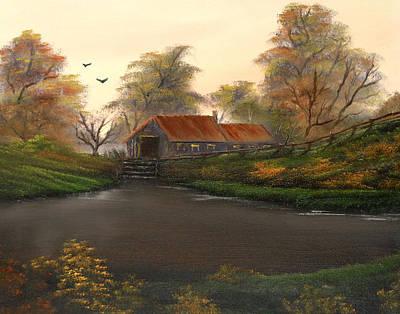 Autumnal Sunrise. Art Print by Cynthia Adams