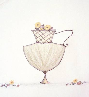 Drawing - Autumnal Urn by Christine Corretti