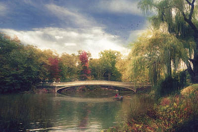 Autumn's Afternoon In Central Park Art Print by John Rivera