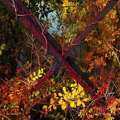 Iron Bars Painting - Autumn's Bandolier by RC deWinter