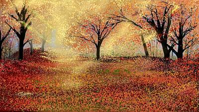 Art Print featuring the digital art Autumn's Colors by Anthony Fishburne