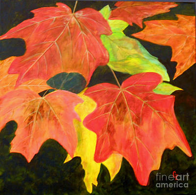 Painting - Autumn's Glow  by Nancy Czejkowski