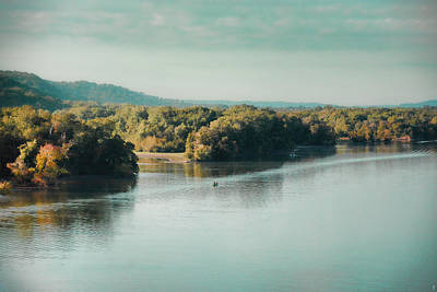 Photograph - Autumn's Knocking On The Door - River Scene by Jai Johnson