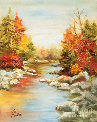 Painting - Autumn's Mystery II by Vic  Mastis