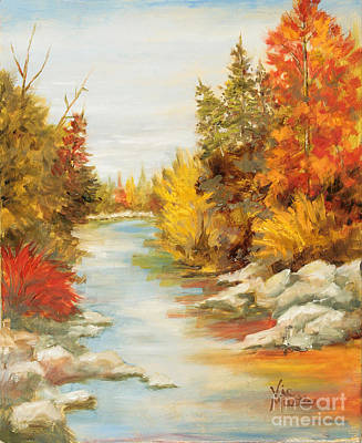 Painting - Autumn's Mystery by Vic  Mastis