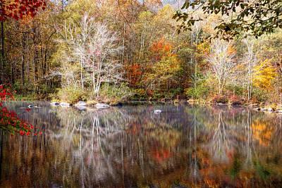 Autumn's Peak Art Print by Debra and Dave Vanderlaan