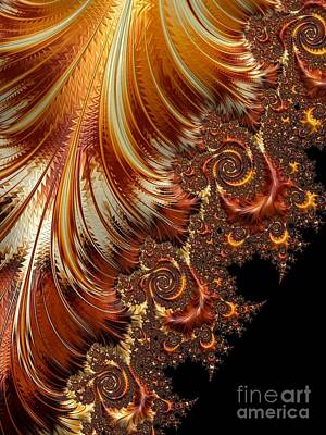 Backdrop Digital Art - Autumn's Peak  by Heidi Smith