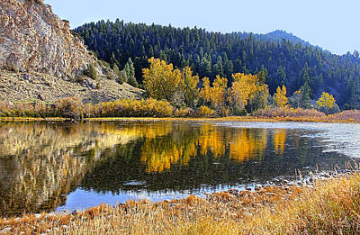 Photograph - Autumn's Reflections Big Hole River Montana by Jennie Marie Schell