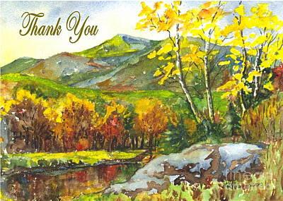 Autumn Landscape Drawing - Autumns Showpiece Thank You by Carol Wisniewski