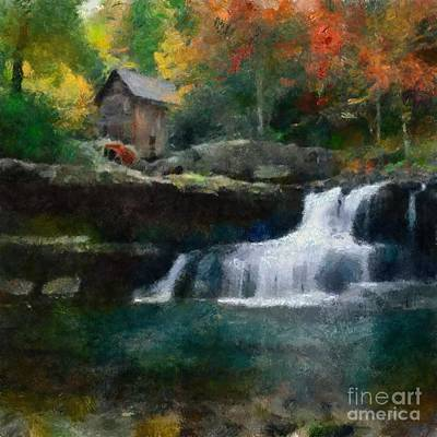 Painting - Autunm Falls Around by Scott B Bennett