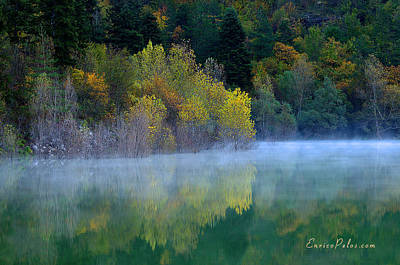 Photograph - Autunno Alba Sul Lago - Autumn Lake Dawn 9608 by Enrico Pelos
