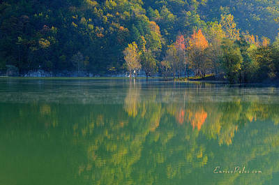 Photograph - Autunno Alba Sul Lago - Autumn Lake Dawn 9689 by Enrico Pelos