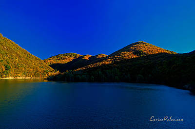 Photograph - Autunno Tramonto Sul Lago - Autumn Lake Sunset by Enrico Pelos
