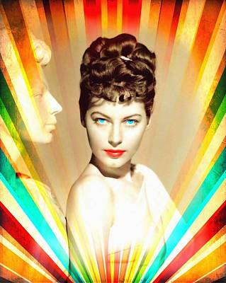 Statue Portrait Mixed Media - Ava Gardner In One Touch Of Venus by Art Cinema Gallery