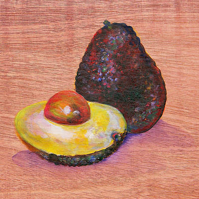 Avacado Painting - Avacado by Judy Bruning