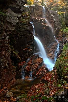 Photograph - Avalanche Cascades Into Flume Gorge by Adam Jewell