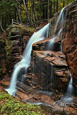 Photograph - Avalanche Falls At Franconia Notch New Hampshire by Adam Jewell