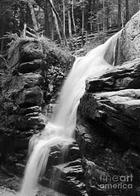 Photograph - Avalanche Falls B W by Jemmy Archer