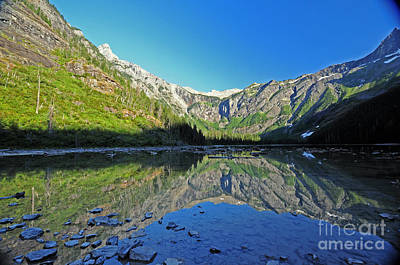 Photograph - Avalanche Lake - Glacier by Cindy Murphy - NightVisions