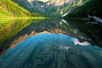 Photograph - Avalanche Lake by Bernard Chen