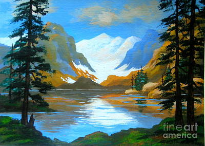 Painting - Avalanche  Lake by Shasta Eone