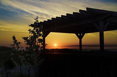 Avalon Beach Gazebo At Sunrise Art Print by Bill Cannon