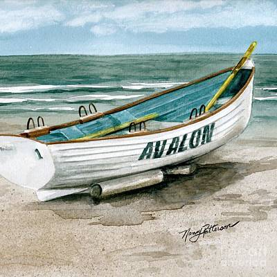 Painting - Avalon Lifeguard Boat 2  by Nancy Patterson