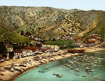 Wharf Digital Art - Avalon Santa Catalina Island 1901 by Unknown