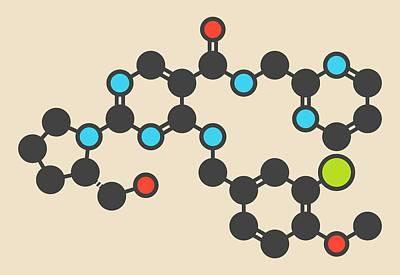 Avanafil Drug Molecule Art Print