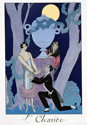 Pleading Painting - Avarice by Georges Barbier