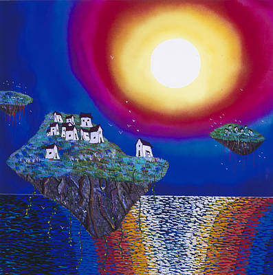 Painting - Avatar Island Housing by Patrick OLeary