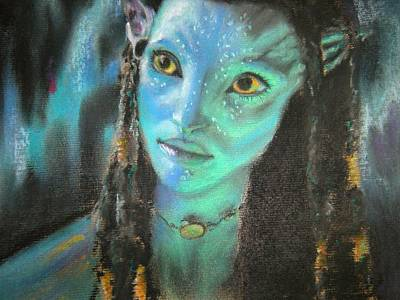 Art Print featuring the pastel Avatar by Lori Ippolito