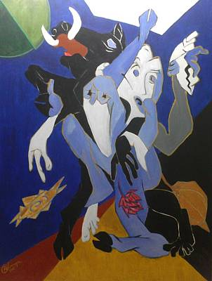 Incarnation Of Lord Vishnu Painting - Avatar Series-varahi by Chinmaya BR