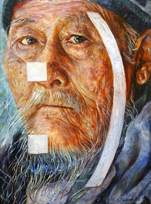 Old Chinese Man Painting - Avatar by Simkin de Pio