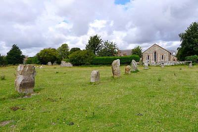Photograph - Avebury Aligned Stones by Denise Mazzocco