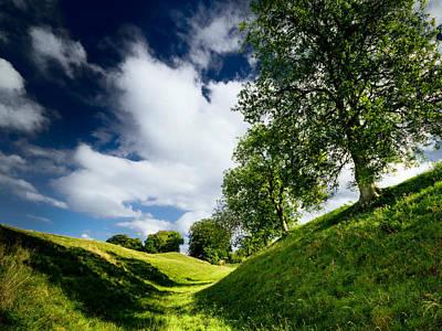Britain Photograph - Avebury Hillside by Julian Cook