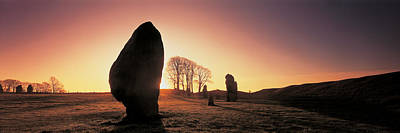 Bare Trees Photograph - Avebury Wiltshire England by Panoramic Images