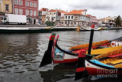Photograph - Aveiro Canal Scene by John Rizzuto