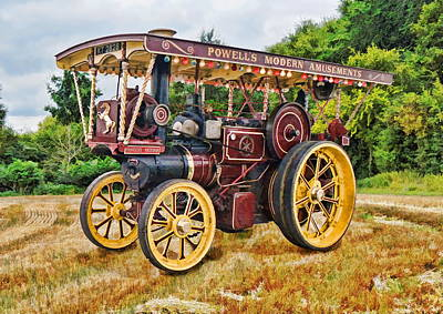 Digital Art - Aveling And Porter Showmans Tractor by Paul Gulliver