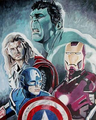 Avengers Art Print by Jeremy Moore