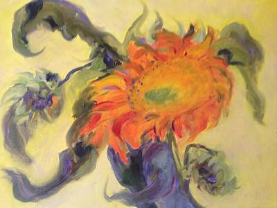 Painting - Avenging Sunflower by Karen Carmean