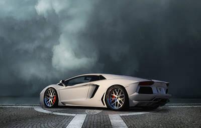 All Wheel Drive Digital Art - Aventador Dreamscape by Peter Chilelli