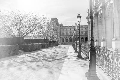 Avenue De La Louve In Black And White Art Print